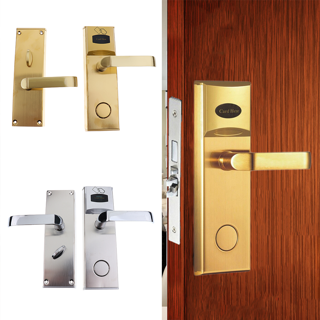 Electronic Door Lock Keyless Smart Card Induction Lock for Hotel Apartment Wooden Door apartment electric door lock keyless passcode lock with mini size