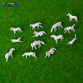 1;150 miniature farm animals model white plastic scale model horse