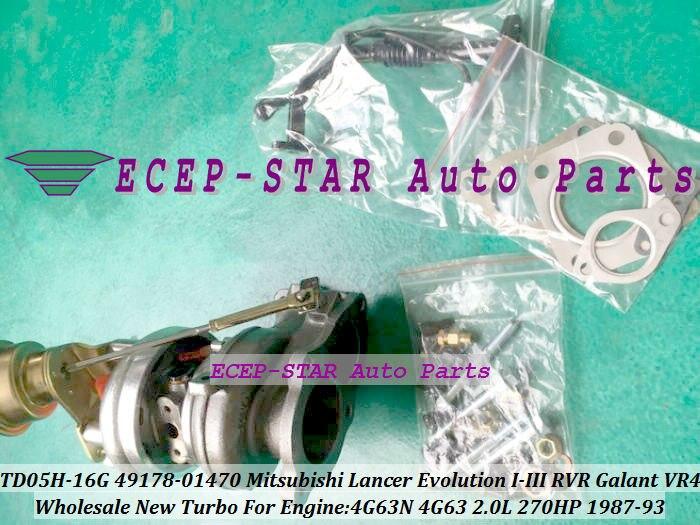 TD05H-16G 49178-01470 Turbo Turbocharger For Mitsubishi Lancer Evolution I-III RVR Galant VR4 1987-93 4G63N 2.0L 270HP (2)