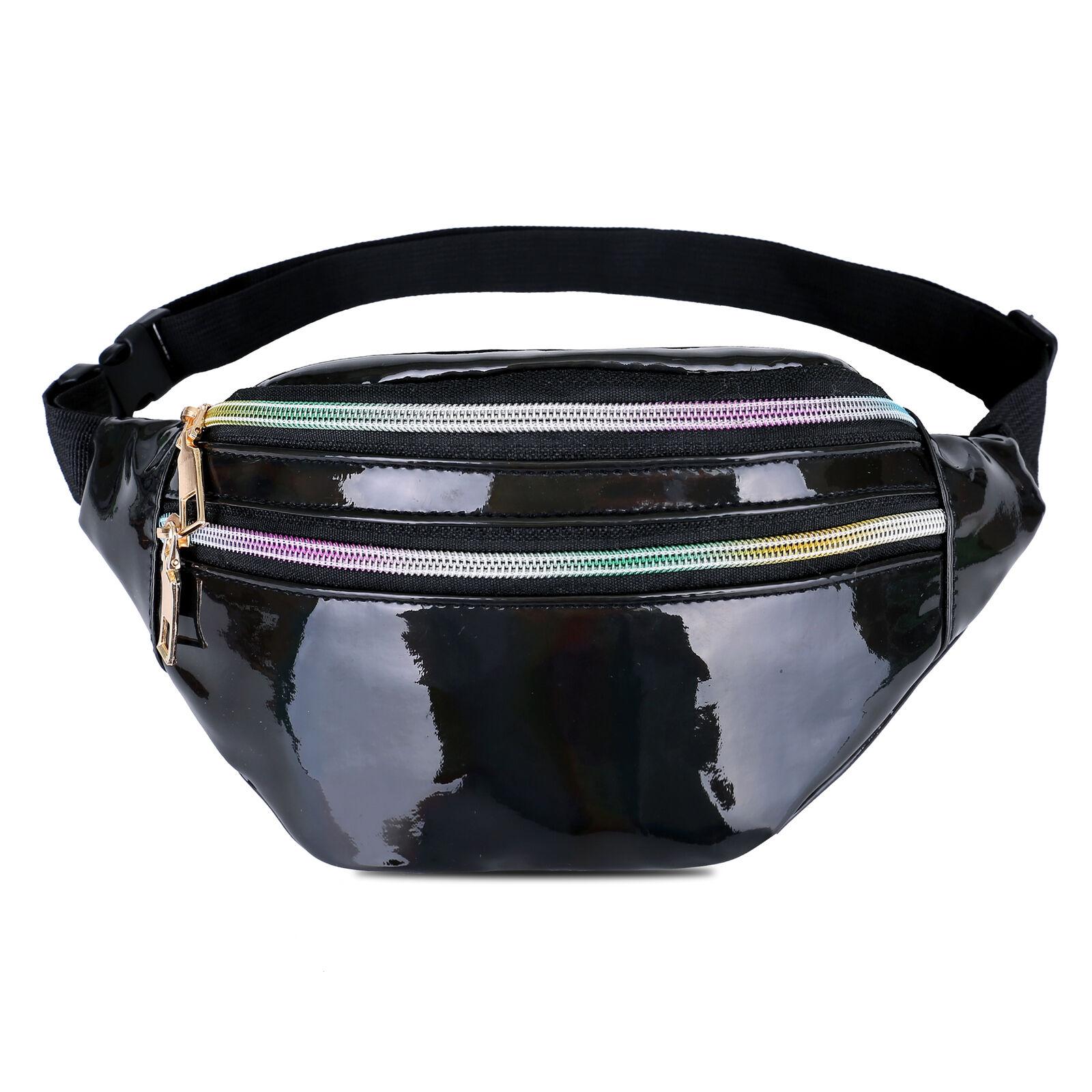 Fashion Hip Hop Waist Bag 2019 Women's Fanny Pack Portable Holographic Bright Color Travel Purse Chest Bag