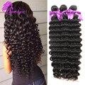 Высочайшее Качество Малазийские глубокая волна 10A Малайзии глубокая волна девы волос bundle предложения 3 шт. необработанные человеческие Малайзии волос девы