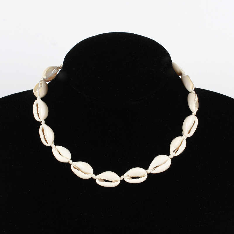 Fashion Exquisite Rope Chain Shell Necklace Statement Women Sea Shell Choker Necklace Collares Jewelry