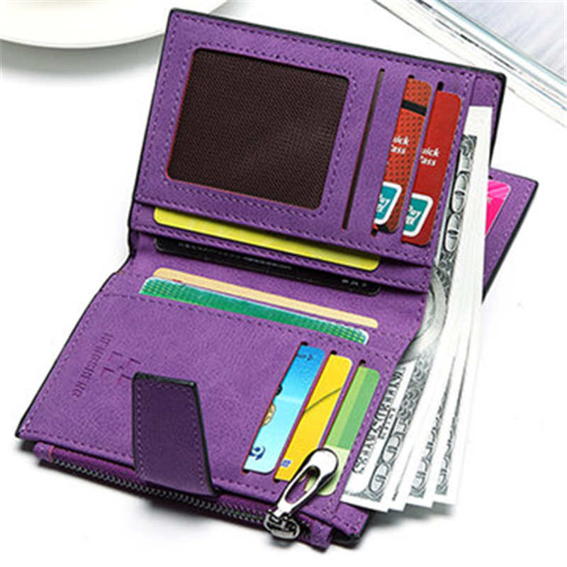 Women Candy Color Dollar Wallet Hasp Short Wallet Girls 2 Fold Zipper Purse Card Holder Coin Clip Small Wallet For Credit Cards casual weaving design card holder handbag hasp wallet for women