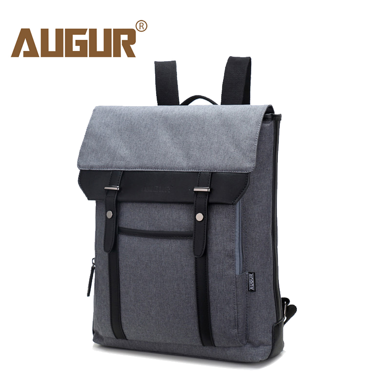 все цены на AUGUR 2017 Vintage Men Women Canvas Backpacks School Bags for Teenagers School Boys Girls Large Capacity 16inch Laptop Back pack онлайн