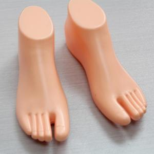 1 Pair Feet Mannequin Thong Style Female Foot Shoes Mannequin For Foot Sandal Shoe Display Apparel Sewing Fabric Mannequin