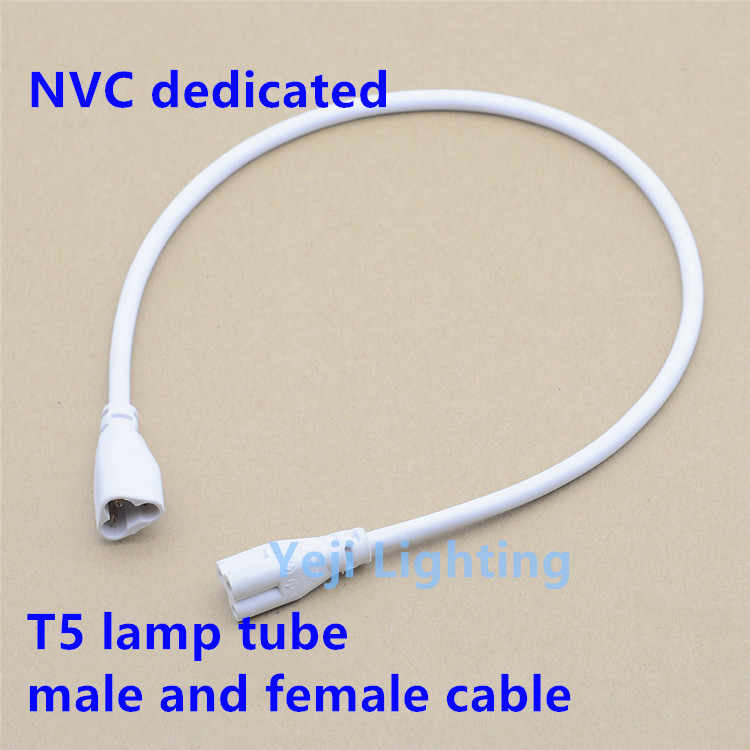 T5 LED lampu tabung ekstensi kawat kawat konektor untuk daya bracket pria dan konektor perempuan 3 lubang NVC didedikasikan