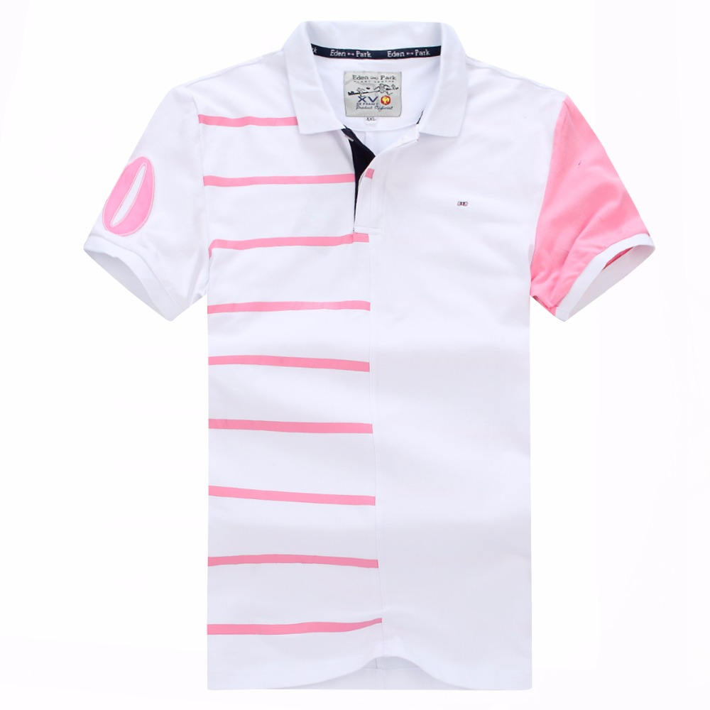 2019 hot selling New men's French brand Eden park Short   polo   shirt striped COTTON Embroidery tees for Men   polos   plus Size XXXL