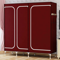 FREE Shipping Oxford Cloth Wardrobe Large Simple Home Steel Clothes Storage