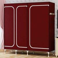 DIY хорошо продаются ткань Оксфорд большой шкаф Simple Home стали для хранения одежды сборки шкаф, шкаф ткани