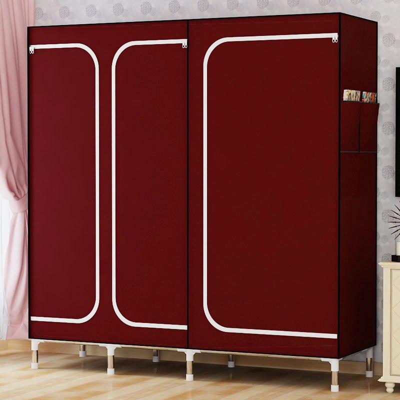 DIY хорошо продают Ткань Оксфорд шкаф большой простой домашний стальной Одежда для хранения в сборе гардероб, ткань гардероб