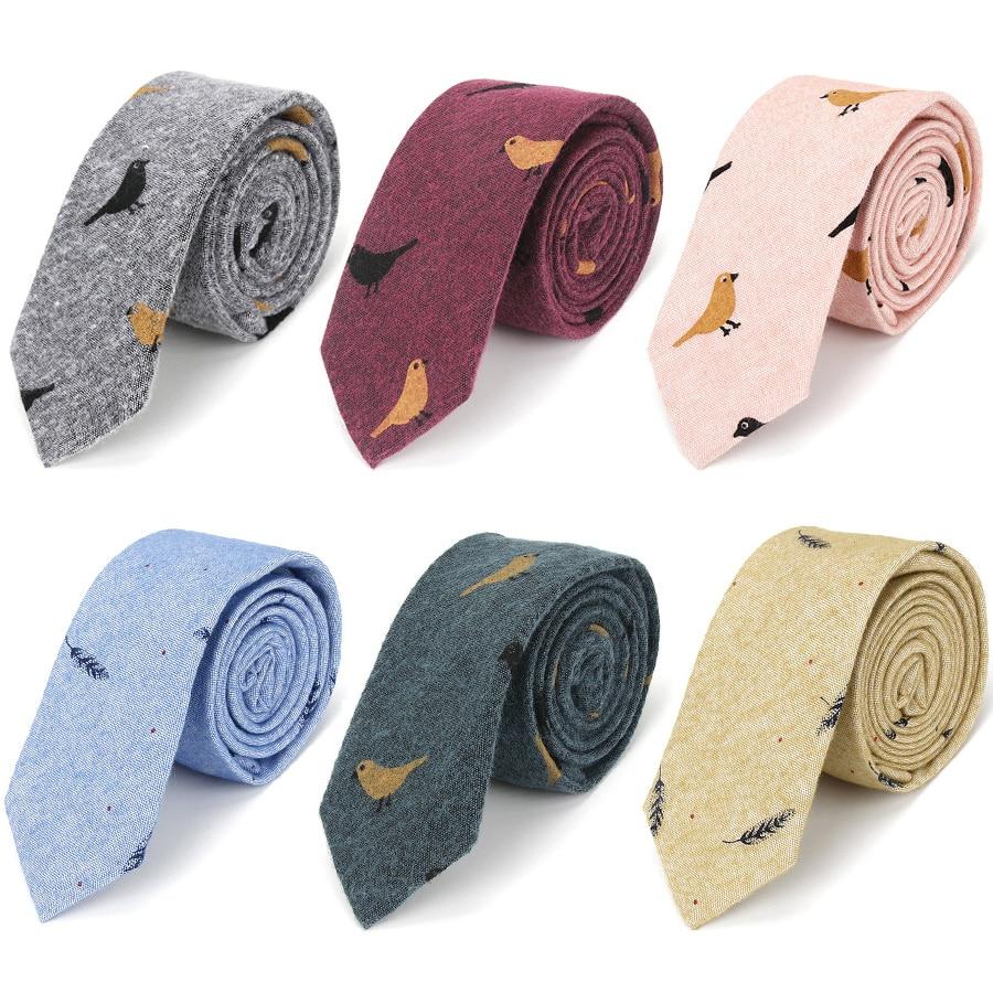 IHGSNMB Fashion Ties For Men Bowtie Cravat Set Cotton Printed Skinny Tie Mens Party Neckties Casual Shirt Accessories Neckwear