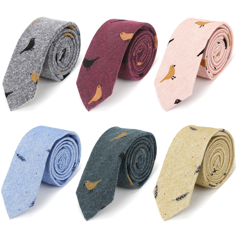 IHGSNMB Fashion Ties for Men Bowtie Cravat Set Cotton Printed Skinny Tie Mens Party Neckties Casual Shirt Accessories Neckwear