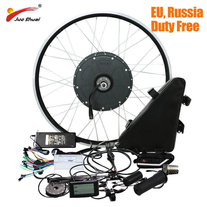 Kit vélo électrique jueshuai 1000 W avec batterie au Lithium 48 V 20AH roue moteur sans balais bicicleta electrica Kit e-bike puissant