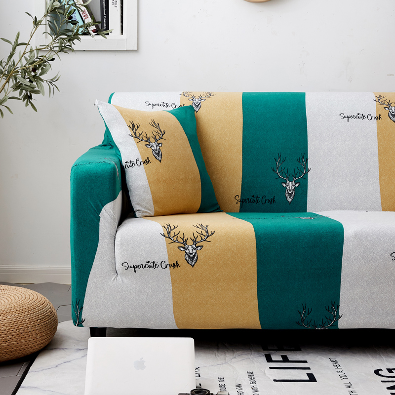 Image 4 - Parkshin Deer 1/2/3/4 Seater Slipcover Stretch Sofa Covers Furniture Protector Polyester Loveseat Couch Cover Sofa Towel-in Sofa Cover from Home & Garden
