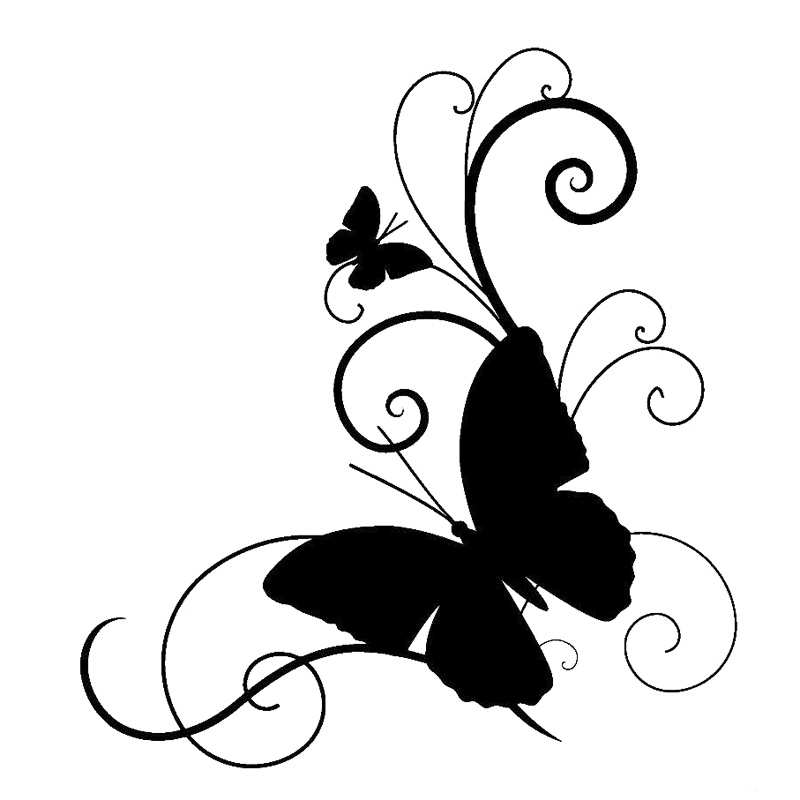15.2cm*16.6cm Butterfly Personality Car-Styling Vinyl Stickers Decals Black/Silver S3-6072 стоимость