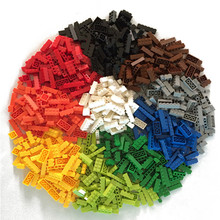100Pcs/Lot 2X4 H* DIY Toy Plastic Building Block MOC Brick For Kids Compatible with MOC 3001 Assembles Particles 15 Colors цена в Москве и Питере