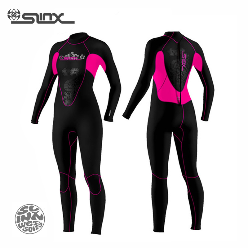 ФОТО SLINX CORAL 1102 3mm Neoprene Women Kite Surfing Wetsuit Snorkeling Spear Fishing Boating Swimwear Jumpsuit Scuba Diving Suit