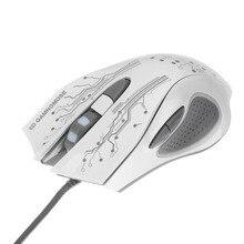 Проводная игровая мышь 3200 dpi светодиодный оптический 6 кнопок USB Проводная мышь Pro Gamer компьютерные мыши ноутбук для профессиональных плееров