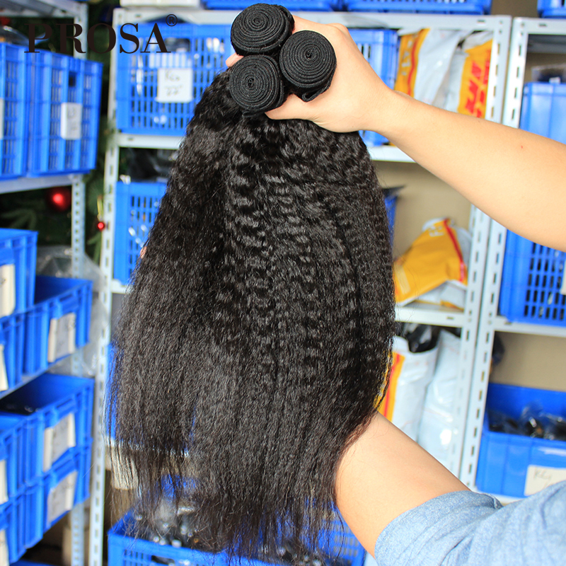 Kinky Straight Hair Brazilian Weaving Bundles Deal One Piece Natural - Rambut manusia (untuk hitam)