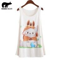 2015 New Anime Totoro Printing Tank Tops Camisole Womens Sleeveless T Shirt Tee Vest Cami Loose