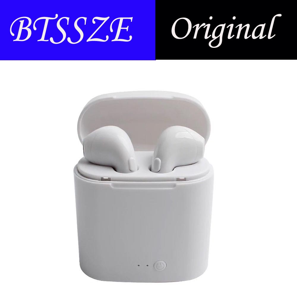 Original i7s Bluetooth Earphone Headset Earbuds Wireless  manos libre With Mic Portable Stereo EarBud For android for iphone hlton portable wireless bluetooth earphone handsfree mini headset stereo earbuds car fast charger with mic for smartphone pc
