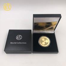 Криптовалюта пульсация монета Биткоин памятный круглый XRP пульсация криптовалюта покрытая монета коллекционная с подарочной коробкой