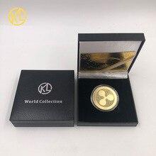 Криптовалютная монета, Биткоин, памятная круглая монета XRP Ripple, коллекционная криптовалюта с покрытием в подарочной коробке