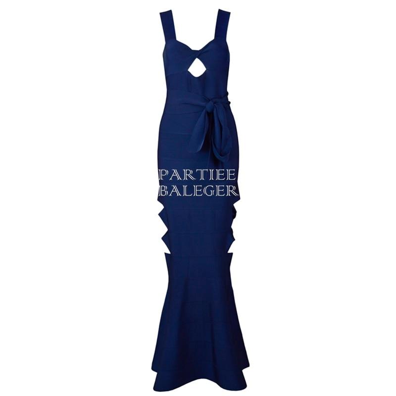 V Creux Sexy Marine Robe Party Cou Celebrity Bleu De Manches 2019 Out Arc Longue Nouvelle Bandage Arrivée Embelli Mode Maxi xw4CWRqWtY