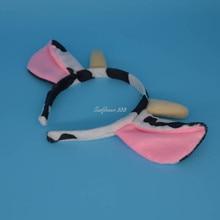 Animal Milk Ear Horn Headband Headwear Halloween Party Fancy Dress Decor