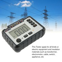 VC60B+ Digital Insulation Resistance Tester Earth Ground Meters Megger Megohmmeter Portable Volt Voltmeter Multimeter