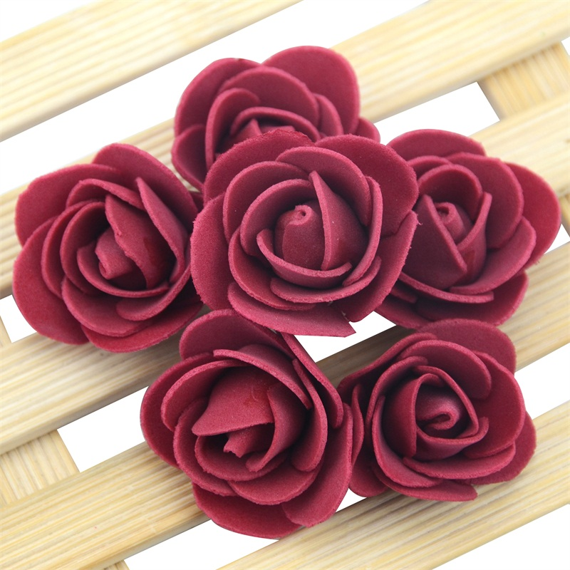 50pcs/Bag Multicolor Mini Rose Head Artificial Flowers For Wedding And Festival Party 12