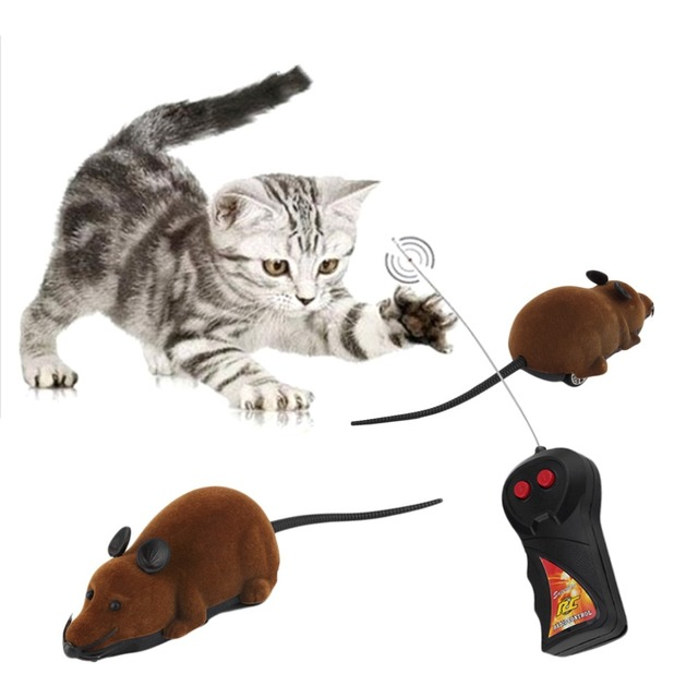Nuevo gato juguetes de Control remoto inalámbrico de simulación de peluche de ratón electrónico rata ratón ratones juguete para mascotas gato juguete del ratón