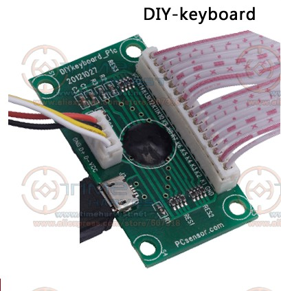 DIY Keyboard PCB 14 keys Computer Keyboard to Jamma USB adapter Custom Buttons Settings USB Encoder with Wires Cable for PC Game