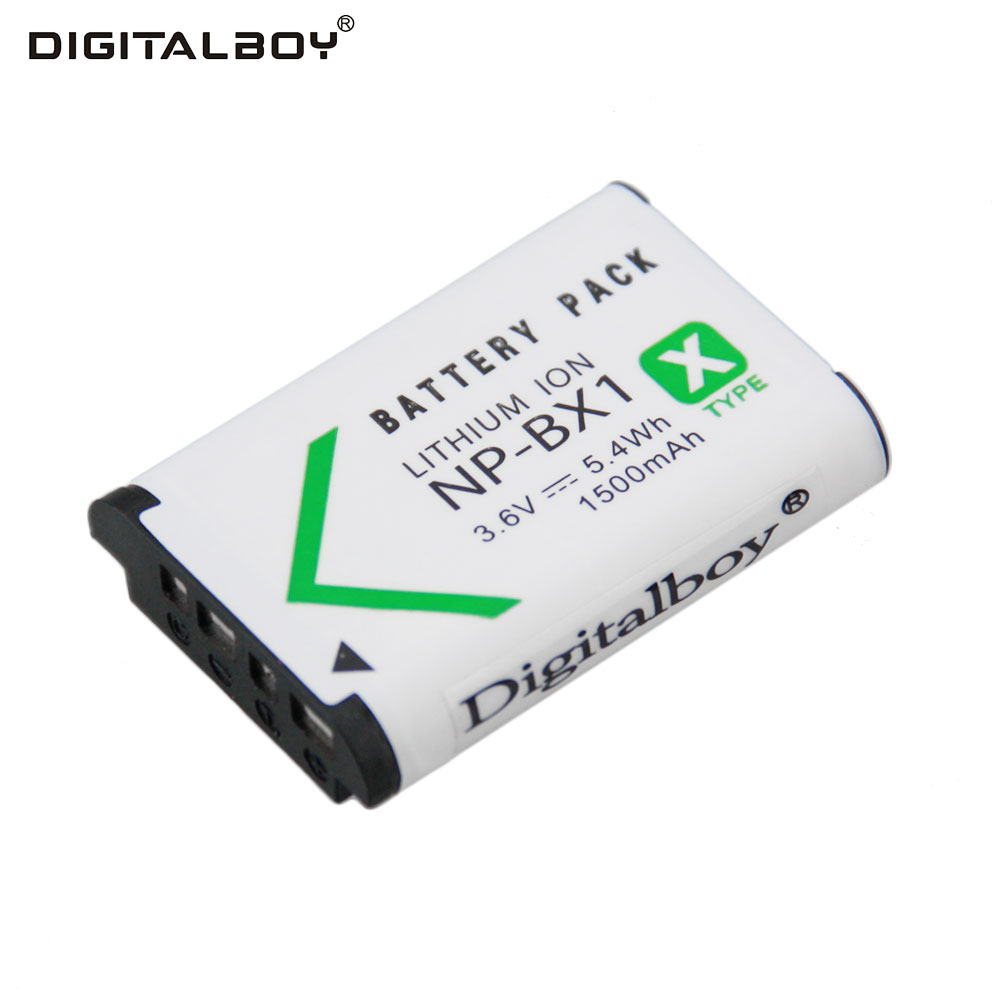 Digital Boy 1Pcs 3.6V 1500mAh NP-BX1 NP BX1 NPBX1 Rechargeable Battery camera Battery For Sony DSC-RX100 RX100 HDR-AS15 sony cyber shot dsc rx100 компактный цифровой фотоаппарат np bx1 аккумулятор