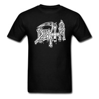 OKOUFEN Hot Sale Fashion DEATH Classic Logo T Shirt ROCK BAND HEAVY METAL Men 100 Cotton