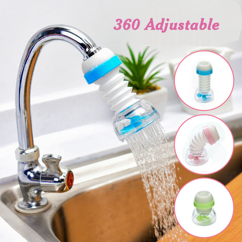 360 Rotation Kitchen Faucet Spouts Sprayers PVC Shower Tap Water Filter Water Purifier Nozzle Filter Water Saver Kitchen Accesso(China)