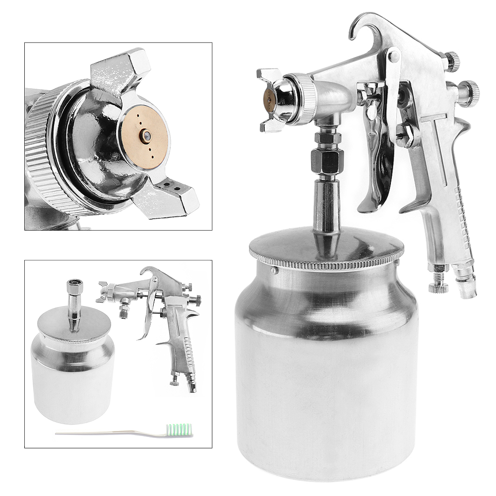 400ML Professional Pneumatic Spray Gun Airbrush Sprayer Alloy Painting Atomizer Tools with Hopper for Painting Car
