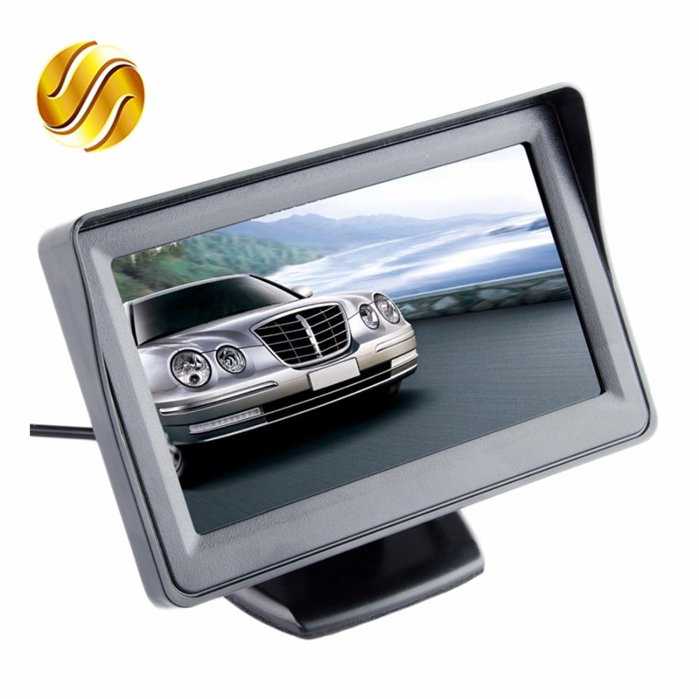 """Car Monitor 4.3"""" Screen For Rear View Reverse Camera TFT LCD Display HD Digital Color 4.3 Inch PAL/NTSC(China)"""
