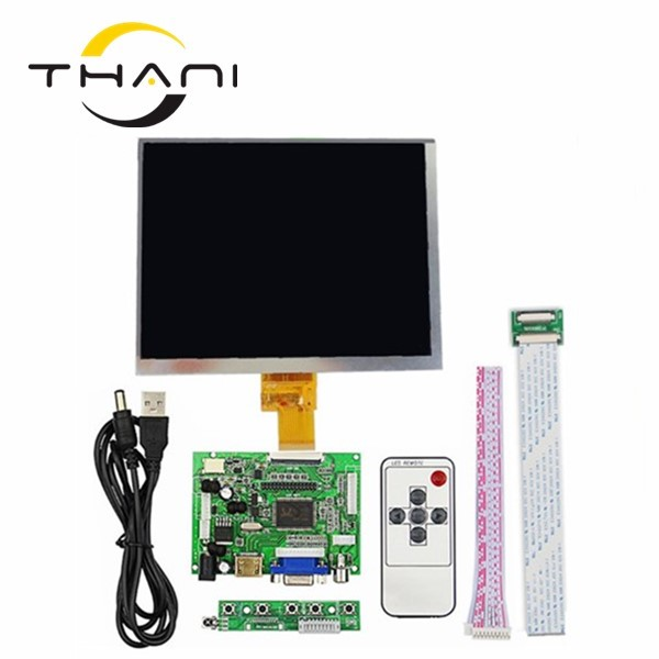 HDMI/VGA/AV Control Driver Board + 8inch HL080IA-01E HJ080IA-01E 1024*768 IPS high-definition LCD Display For Raspberry Pi new original package innolux 8 inch ips high definition lcd screen hj080ia 01e m1 a1 32001395 00