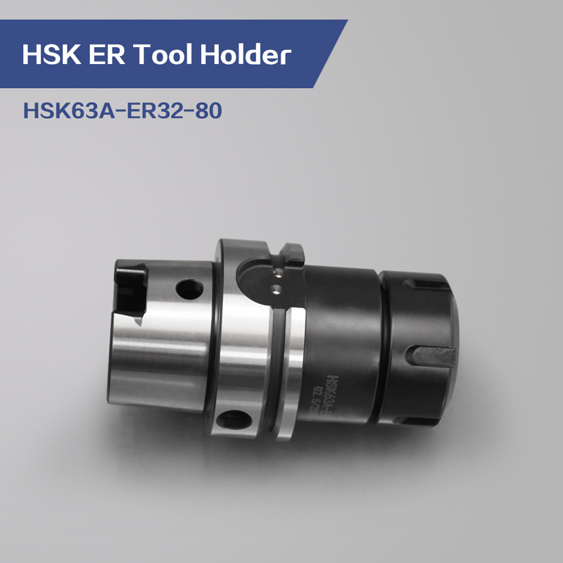 <font><b>HSK</b></font> <font><b>63A</b></font> ER32 80L Collet Chuck For Milling Cutter image