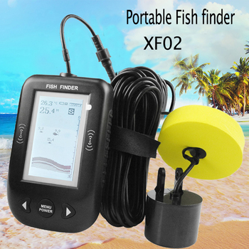 Erchang XF02 Portable Fish Finder 9m Cable Fishing Sensor Alarm 0.6-100m Echo Sounder Fishfinder Transducer For Fishing Detector