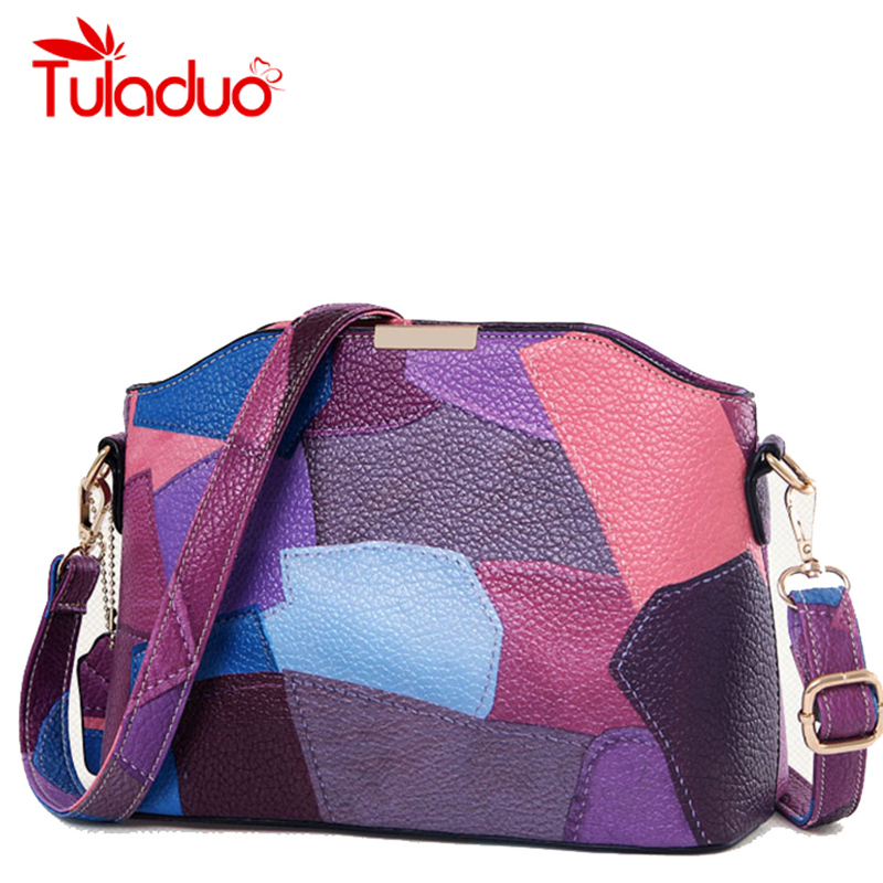 Women Patchwork Handbag Small Shoulder Messenger Bags Leather Designer Party Bags High Quality Crossbody Bag Clutch Purse Bolsas 2018 brand designer women messenger bags crossbody soft leather shoulder bag high quality fashion women bag luxury handbag l8 53