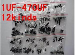 Image 2 - 120pcs 1set of 120pcs 12 values 0.22UF 470UF Aluminum electrolytic capacitor assortment kit set pack Free shipping