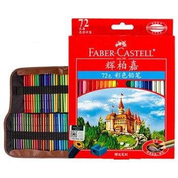 Faber Castell profesjonalne kredki 72 zestaw, temperówka, ołówek torba dla dzieci kolorowanka dla dorosłych artykuły szkolne do plastyki prezent