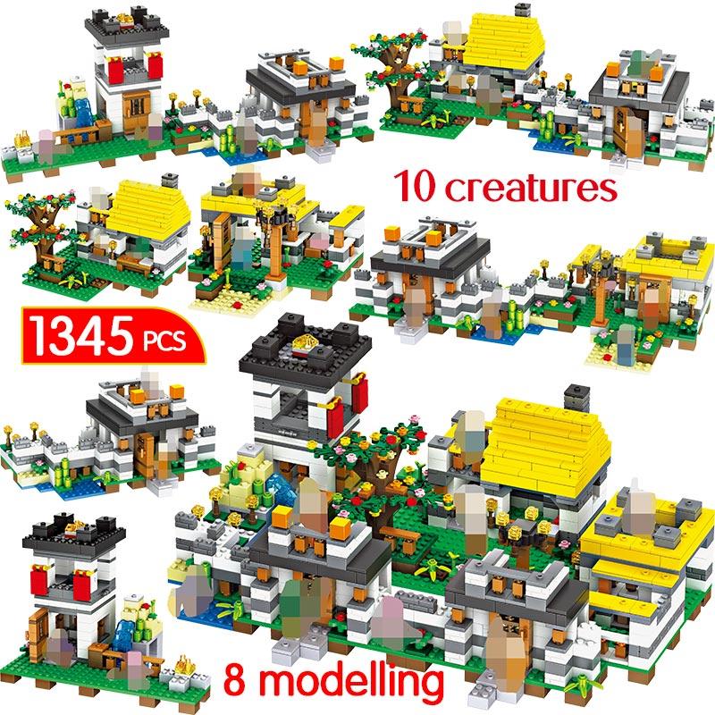 1345PCS My World Model Building Blocks Compatible LegoINGLYS Minecrafter Dreamlike Manor Brick Educational Toy For Children1345PCS My World Model Building Blocks Compatible LegoINGLYS Minecrafter Dreamlike Manor Brick Educational Toy For Children