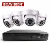 BOAVISION Home Security System 4CH 1080P AHD DVR System 1920*1080 2000TVL Dome Night Vision Surveillance Camera IR CCTV Kits