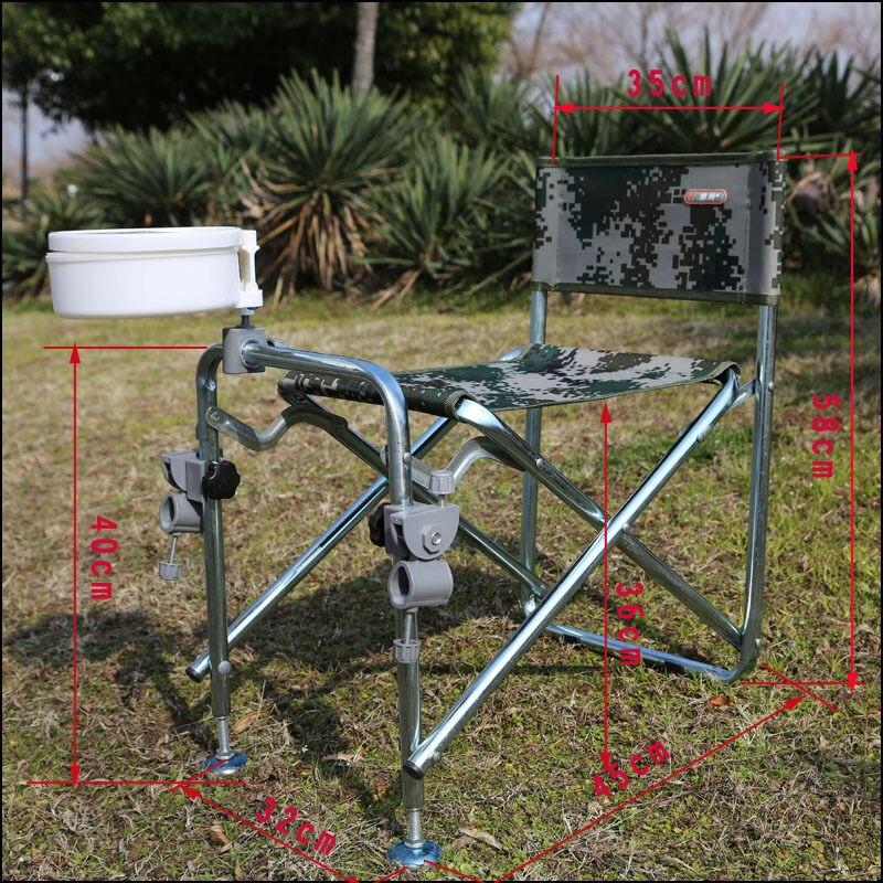 Multifunction Folding Fishing Rod Rack Chair Aluminum