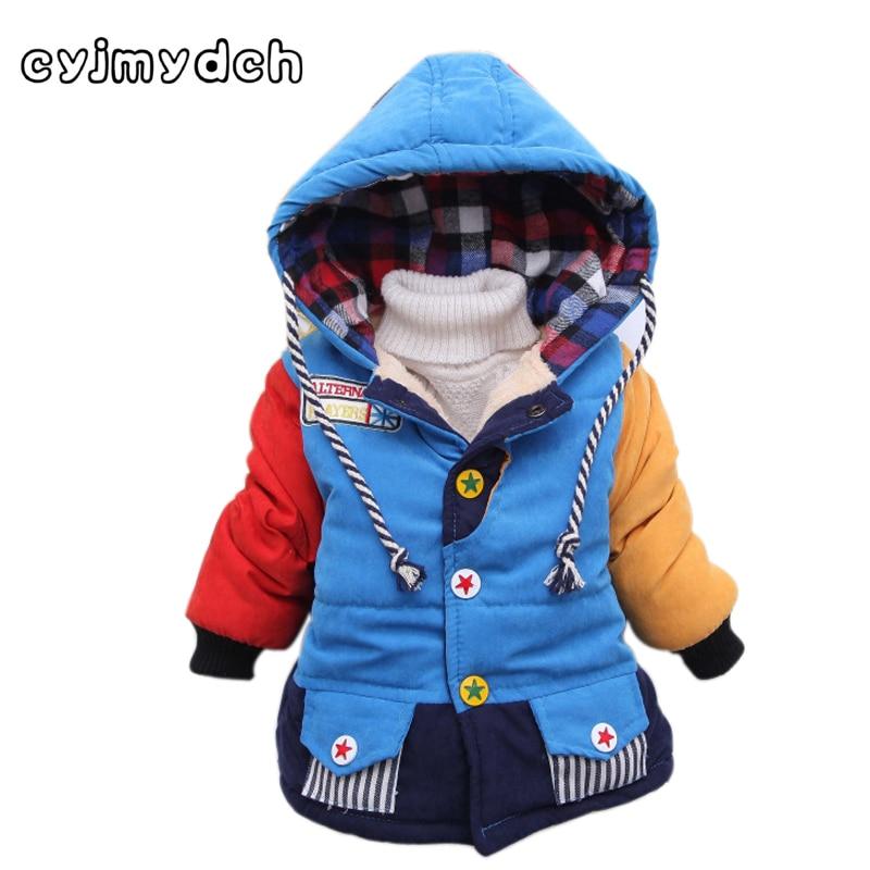 Cyjmydch ziemas zēna jaka bērnu virsdrēbju mētelis modes zēna - Bērnu apģērbi