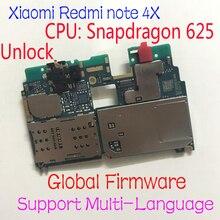 Firmware global original desbloquear xiaomi redmi nota 4x nota 4 versão global snapdragon 625 mainboard placa mãe taxa cabo flexível
