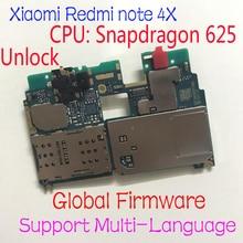 Toàn Cầu Miếng Ban Đầu Mở Khóa Xiaomi Redmi Note 4X Note 4 Phiên Bản Toàn Cầu Snapdragon 625 Bo Mạch Chủ Mainboard Phí Cáp Mềm